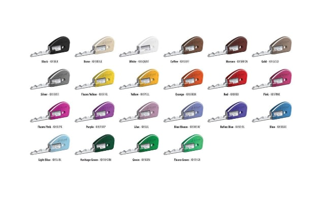 BiLock keyheads in various colours.